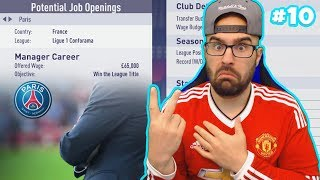 WOW PSG OFFERED ME THE JOB!! - FIFA 18 Career Mode MANCHESTER UNITED #10