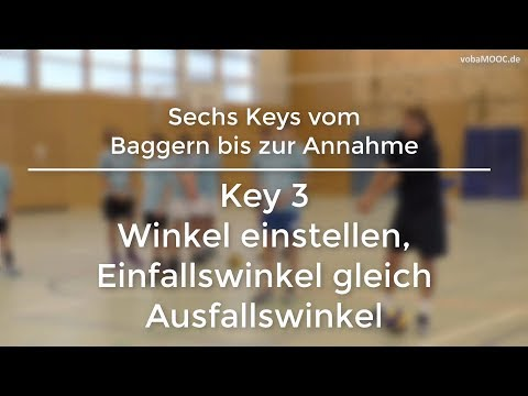 Stefan Hübner - Baggern/Annahme - Key 3: Winkel einstellen, Einfallswinkel gleich Ausfallswinkel
