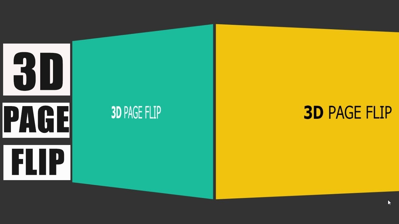 3D Page Flip using Html 5 and JS - Tweenmax js