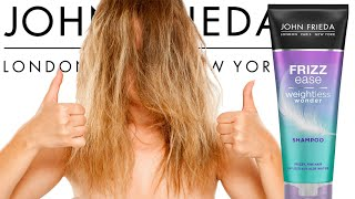 How to get rid of Frizzy Hair! John Frieda Frizz Ease - Weightless Wonder Shampoo Review