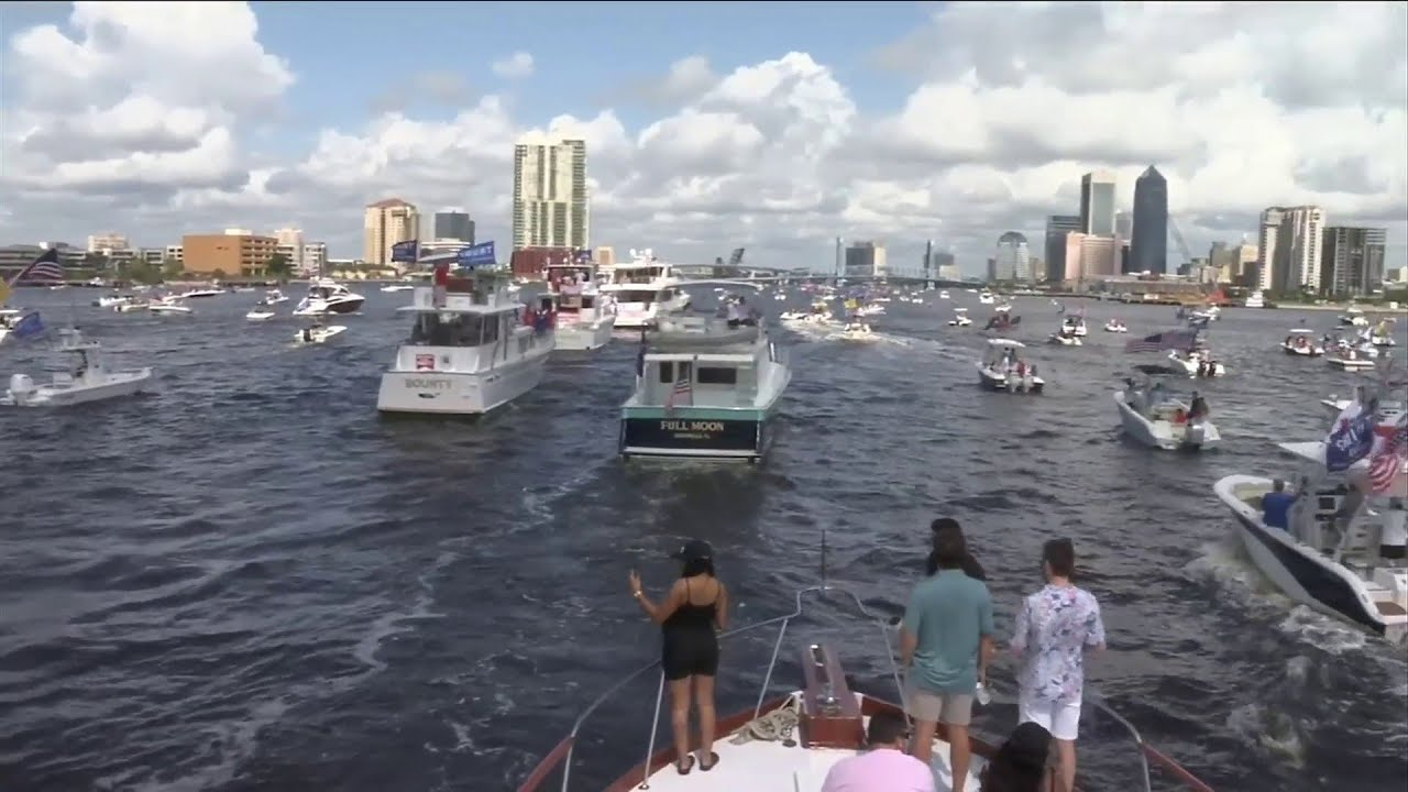 Jacksonville flotilla for President Trump's birthday draws more than ...