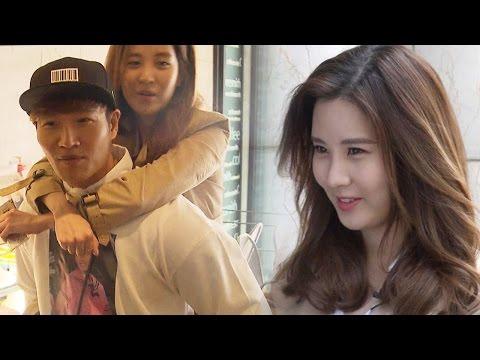 Seohyun goes for a ride on Kim Jong Kook