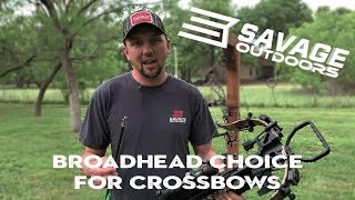 Broadhead Choice for Crossbows