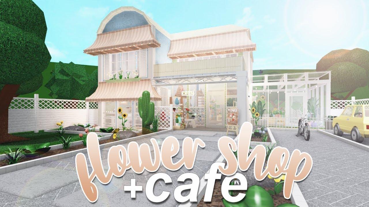 Roblox Bloxburg Flower Shop Cafe 180k Youtube