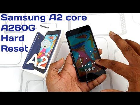 Samsung A2 Core Hard Reset | A260G Pattern Unlock