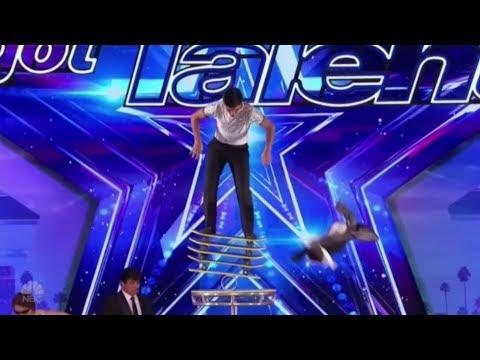 Jonathan Rinny: a SENSATIONAL Danger Balancing Act | America's Got Talent 2017