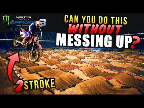 THE CHALLENGE - 10 Rhythm Lanes ONLY Track - 2 Stroke Gameplay - Monster Energy Supercross 3