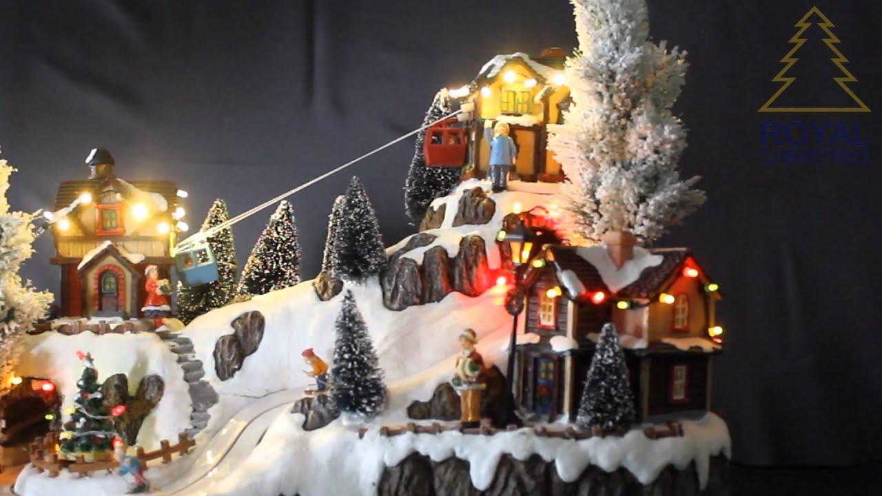 Christmas Village Ski Lift.Royal Christmas Christmas Village Cable Car Lift 120011