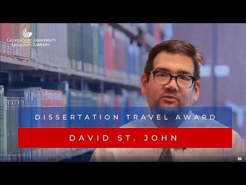 Dissertation Travel Award Recipient David St. John