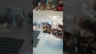 Обзор на лего Minecraft Алекс и крипер(и  лава) +плюшевый  волк!