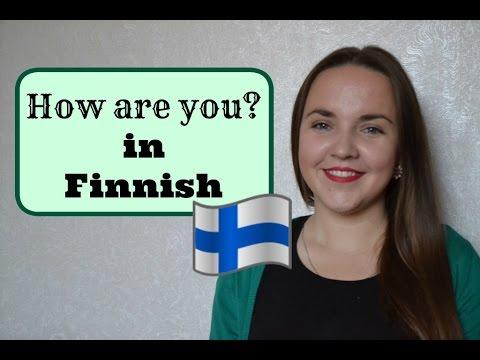 Finnish lesson 4. (How are you?) Opiskele suomea! Уроки финского языка.