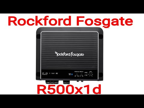 Rockford Fosgate R500X1D Prime 1-Channel Class D Amplifier UNBOXING