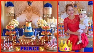 MY SON 1ST B-DAY. PRINCE THEME,DECOR OUTFIT,IDEAS PARLOR GAMES & MORE