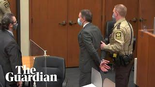 Derek Chauvin taken away in handcuffs after being found guilty of George Floyd's murder