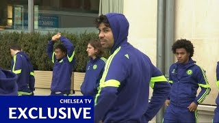 Chelsea: Paris squad walk
