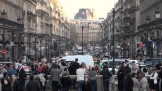 Around the Paris Opera at Rush Hour