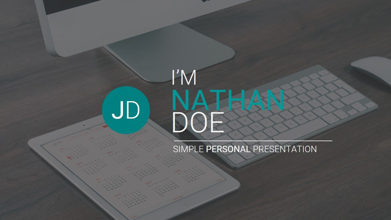 Jd  Personal CvResume Powerpoint Presentation Template Free