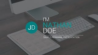 JD - Personal (CV/Resume) Powerpoint Presentation Template (Free!)