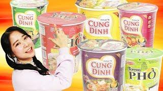 베트남 컵라면을 종류별로 먹어 보았다! 뭐가 가장 맛있을까? 쌀국수 카레맛 ramen [별난박TV]
