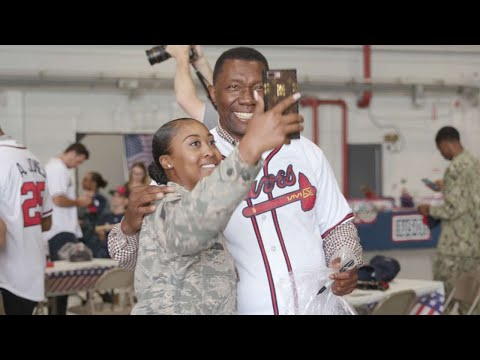 The Atlanta Braves visit Dobbins Air Reserve Base