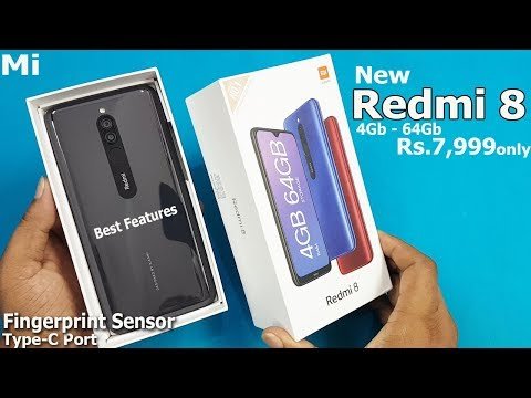 Redmi 8 Unboxing - First Look || Retail Unit 4Gb 64GB Rs7999 only || Redmi 8 Specifications