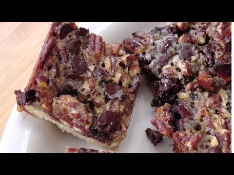 Chocolate Pecan Bars - Recipe By Laura Vitale - Laura In The Kitchen Ep 169