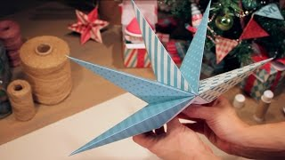 How to make a big Christmas Star - papercraft activity