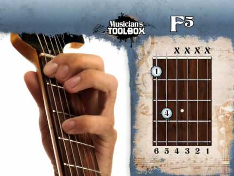 How to play the F power chord on guitar F5 - YouTube