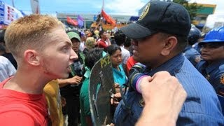 Communist Dutch Protester Attacked In The Philippines