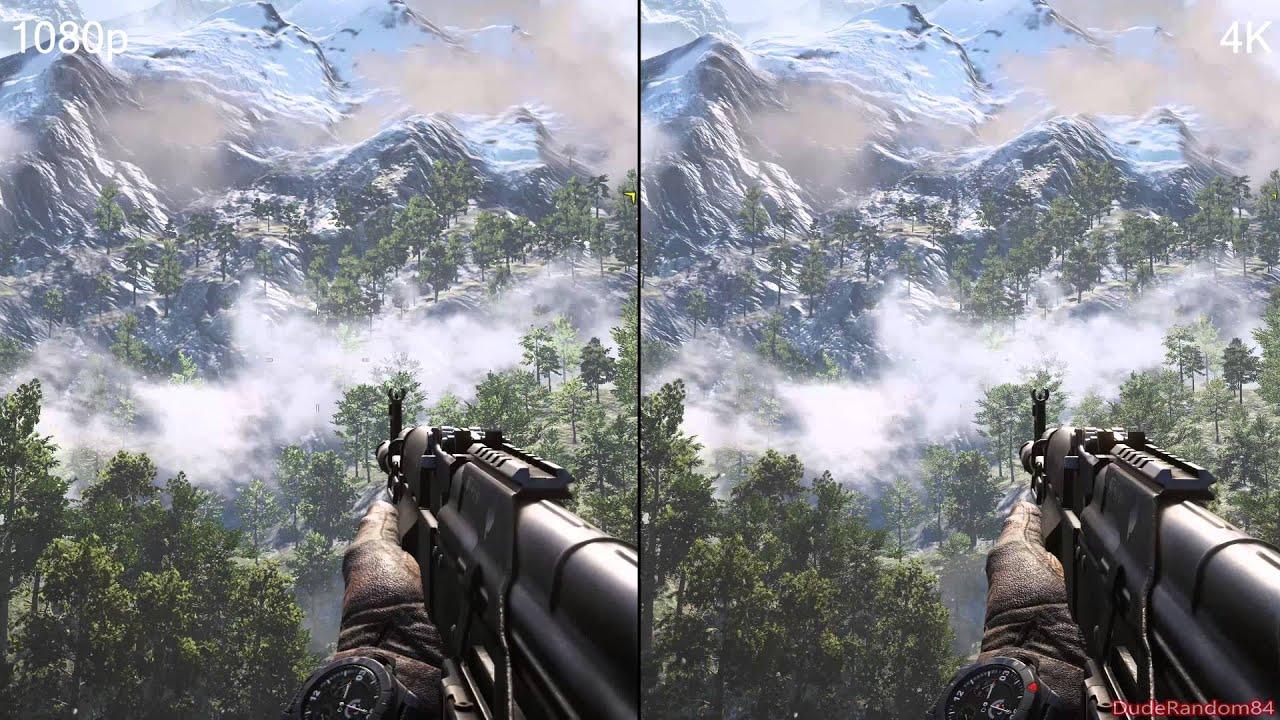 Far cry 4 1080p Vs 4K DSR Graphics Comparison - YouTube