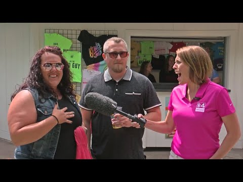 Falen - A State Fair Engagement in front of the KDWB Booth