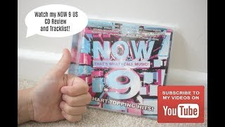 NOW THATS WHAT I CALL MUSIC 9 US VERSION CD REVIEW AND TRACKLIST