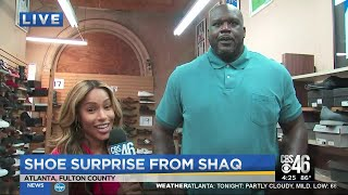Shaquille O'Neal surprises teen in need of size 18 shoes
