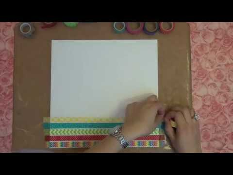 Washi Tape Background and Patterned Paper