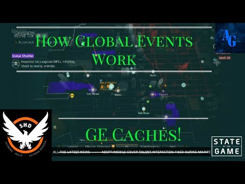 The Division - 1.7 PTS How Global Events Work + GE Caches!