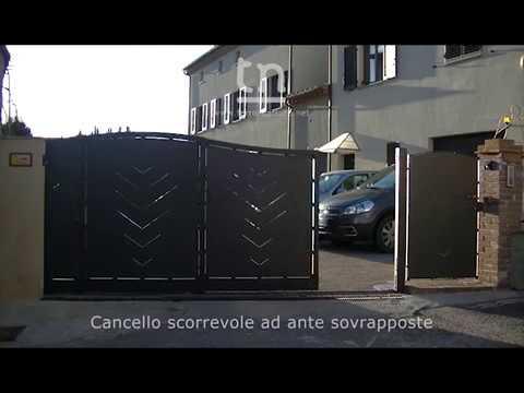 Cancelli Scorrevoli A Due Ante.Cancello Scorrevole Ad Ante Sovrapposte Youtube