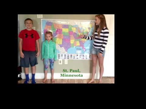 Midwestern United States and Capitals - Kofoed Kids