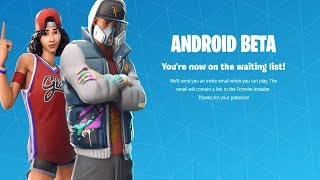 FORTNITE ANDROID BETA LAUNCH! (HOW TO INSTALL!)