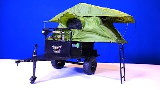 RC ADVENTURES - Bivouac 1/10 M.O.A.B FORT XL Camping & Offroad Tent Trailer distributed by RC4WD
