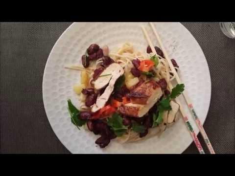 recette---poulet-caramélisé-&-nouilles-chinoises