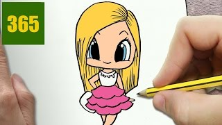HOW TO DRAW A BARBIE CUTE, Easy step by step drawing lessons for kids