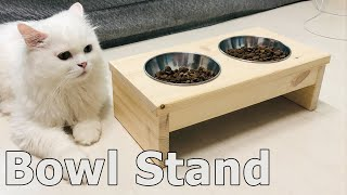 Dog or Cat Bowl Stand DIY 애견식탁…