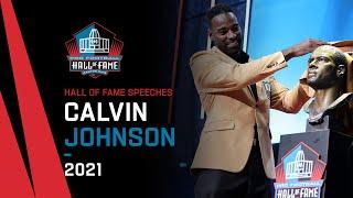 Calvin Johnson Full Hall of Fame Speech 2021 Pro Football Hall of Fame NFL