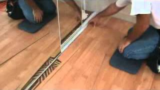 How To Finish Off A Laminate Planking Floor Edge: Next To A Sliding Closet Door