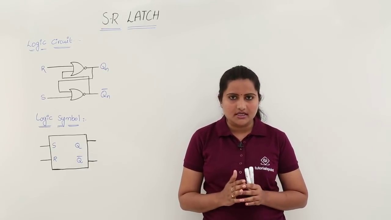 S R Latch Using Nor Gates Youtube Gate Diagram