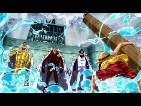 Luffy vs. 3 Admirals: Ao Kiji, Akainu, and Kizaru [HD] [English Sub]
