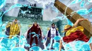Ruffy vs. die 3 Admiräle: Ao Kiji, Akainu und Kizaru [HD] [German Sub]