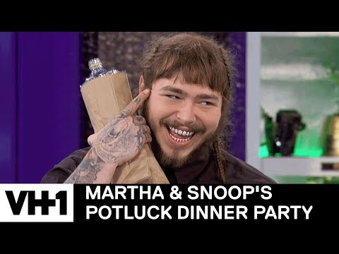 Post Malone Brings Malt Liquor For Martha 'Sneak Peek' | Martha & Snoop's Potluck Dinner Party