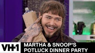 Post Malone Brings Malt Liquor For Martha 'Sneak Peek' | Martha & Snoop's Potluck Dinner Party