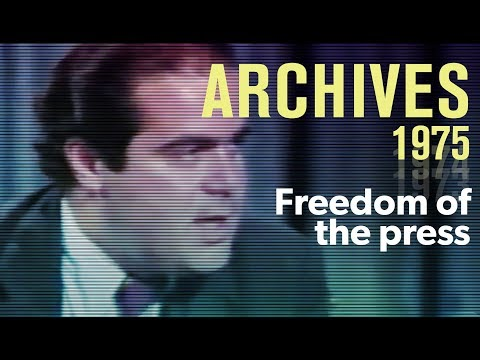 Freedom of the press: The First Amendment protections (1975) – with Antonin Scalia | ARCHIVES